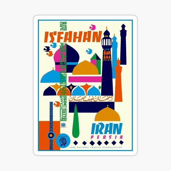 IRAN PERSIA : Vintage Tourism Advertising Print Sticker