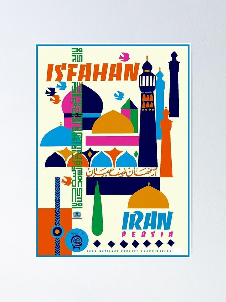 Alternate view of IRAN PERSIA : Vintage Tourism Advertising Print Poster