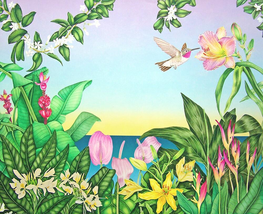 Hummingbird Garden by joeyartist