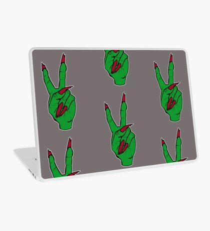 Witch making the peace sign Laptop Skin