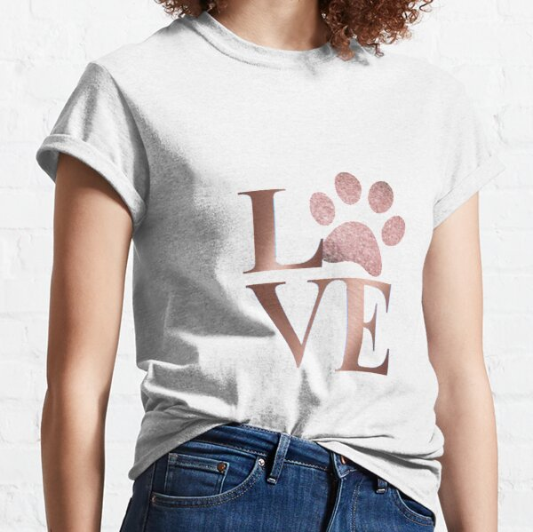 Love is a Four Letter Word - Marble and Rose Gold  Classic T-Shirt