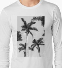 Black and white palm trees Long Sleeve T-Shirt