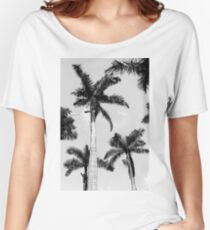 Black and white palm trees Relaxed Fit T-Shirt