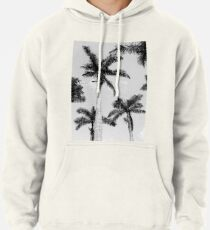 Black and white palm trees Pullover Hoodie