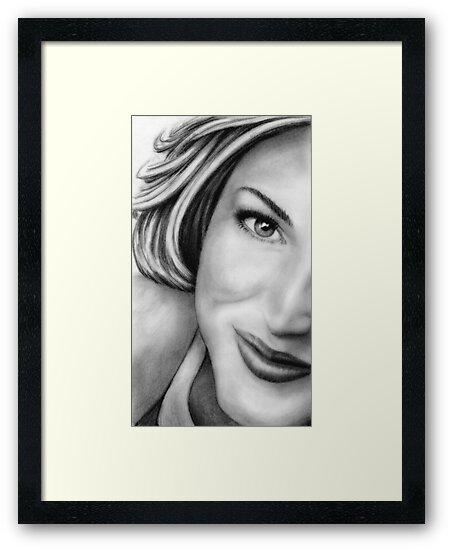 Gillian Anderson Portrait by wu-wei