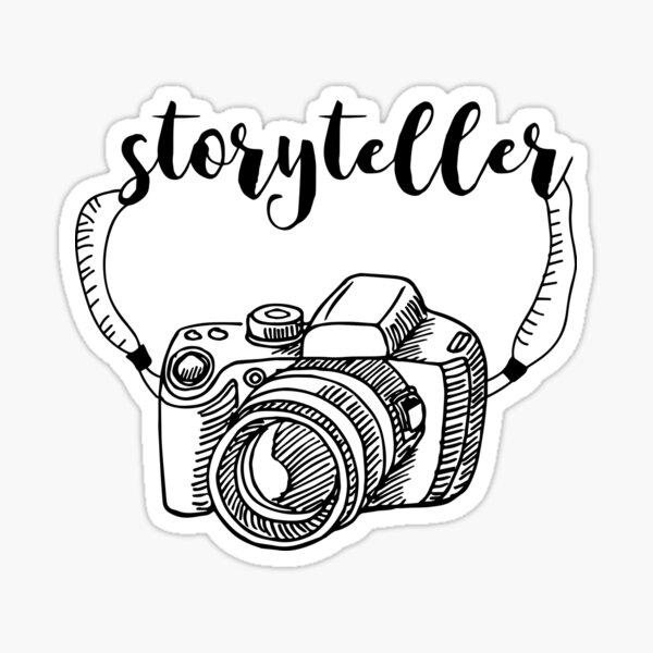 Storyteller Photographer Tee Sticker