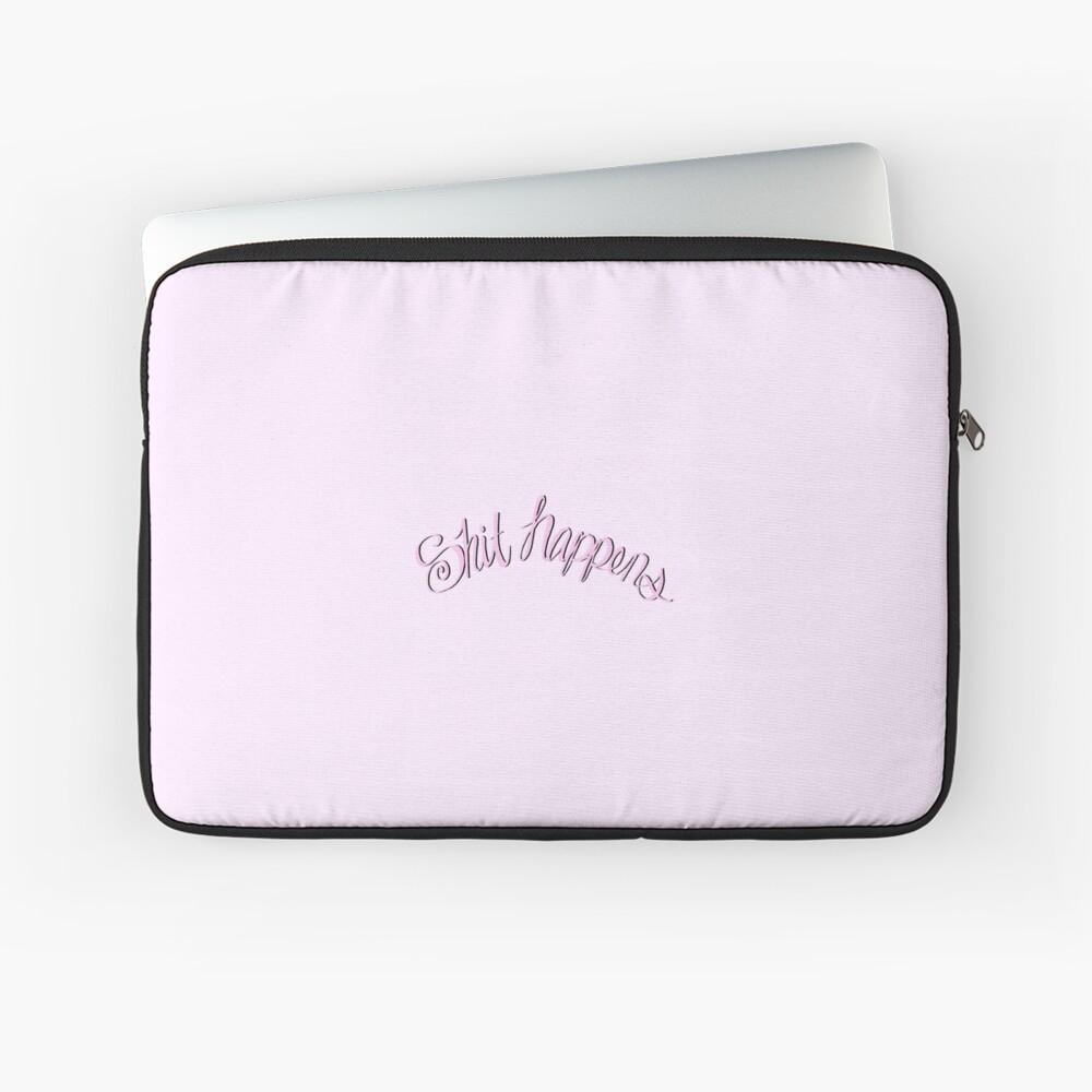 Scheiße passiert Pink Laptoptasche