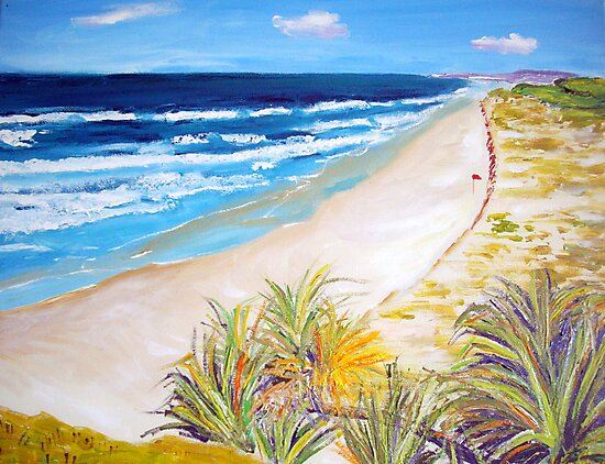 Main Beach Straddie  by gillsart
