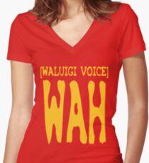 Waluigi Voice Shirt Women's Fitted V-Neck T-Shirt