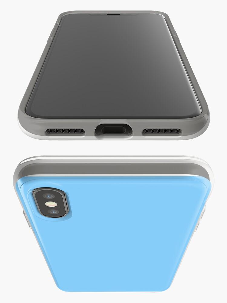 Alternate view of Solid Colour   Plain Light Sky Blue  Blue iPhone Case & Cover
