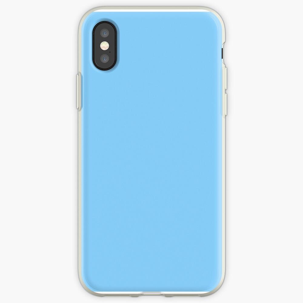Solid Colour   Plain Light Sky Blue  Blue iPhone Case & Cover