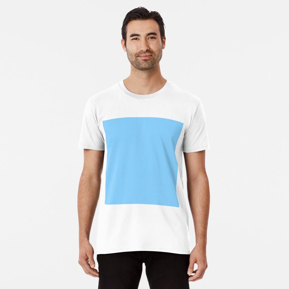 Solid Colour   Plain Light Sky Blue  Blue Premium T-Shirt