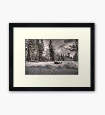 Volvo in the Snowstorm Framed Print
