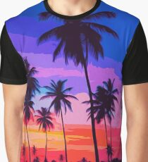 California, Sunset Sky Graphic T-Shirt