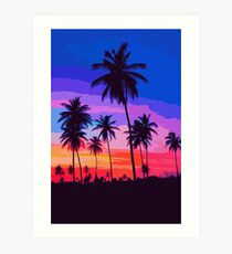 California, Sunset Sky Art Print
