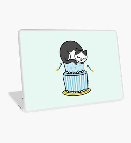 Birthday Cake with Cat Laptop Skin