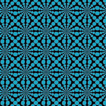 Blue and Black Radiating Circle Pattern by tsuttles