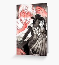 GOTH WESTERN Poster (art only) Greeting Card