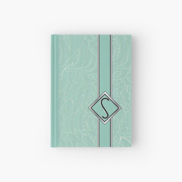 1920s Blue Deco Swing with Monogram letter S Hardcover Journal