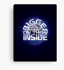 SSE-Bigger on the Inside-Blue Canvas Print