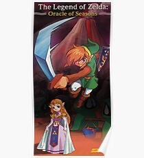 Póster The Legend of Zelda, Oracle of Seasons, restaurado del póster de la revista Nintendo Power