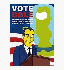 Vote Dole Photographic Print
