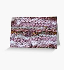Pink Knit Greeting Card