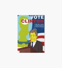 Vote Clinton Art Board