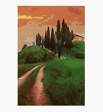 Tuscany, fairy landscape Photographic Print
