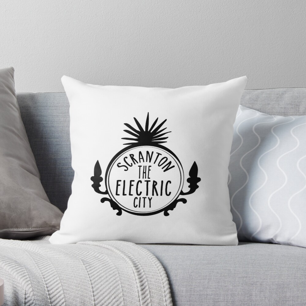 Scranton Electric City Throw Pillow
