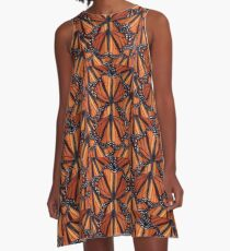 Monarch Butterflies Art A-Line Dress