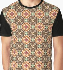 Vintage Watercolor Flowers Graphic T-Shirt