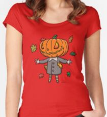 Jack O Lantern In A Snappy Suit Women's Fitted Scoop T-Shirt