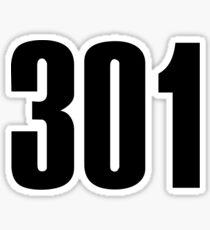 301 Maryland | Phone Area Code Shirts Stickers Sticker