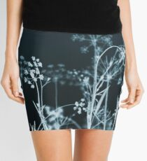 In the Still of the Night. Dark Floral Mini Skirt