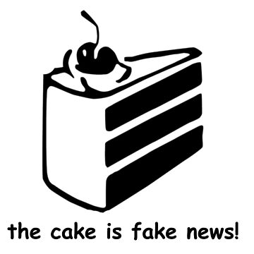 The cake is fake news by gaming-tees