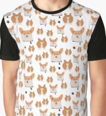funny corgi pattern Graphic T-Shirt