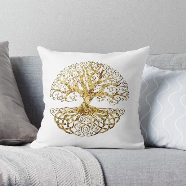 Celtic Tree Throw Pillow