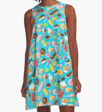 Pixel Sweets A-Line Dress