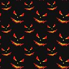 Sparkly Jack O'Lantern face Halloween pattern by PLdesign