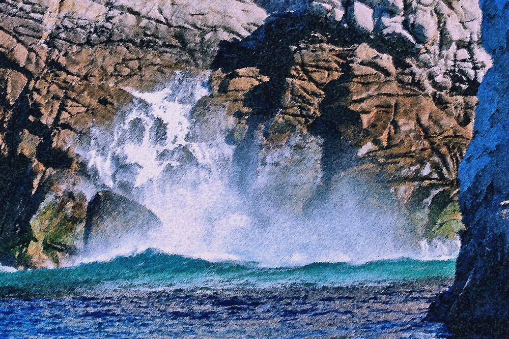 Splash Waterfall by Tim craftmyphoto Farrell