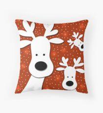 Christmas reindeer - red 2 Floor Pillow
