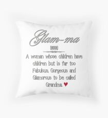 Glam-ma Throw Pillow