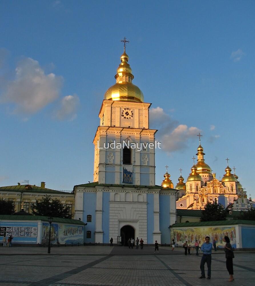 St Michael's gold-domed monastery  by LudaNayvelt