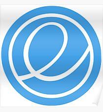 elementary OS logo Poster