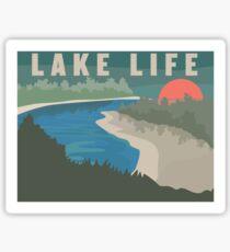 Lake Life Landscape Sticker