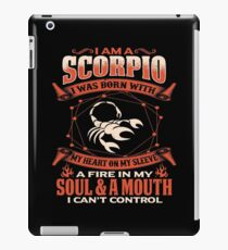 Gag Gift For Scorpio Born With My Heart On My Sleeve Scorpio Gifts iPad Case/Skin