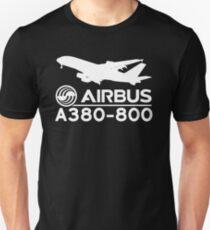 Airbus A380-800 - Silhouette (White) T-Shirt