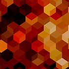 HONEYCOMB RED by EDDESIGNFORFUN