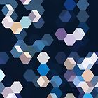 HONEYCOMB BLUE by EDDESIGNFORFUN